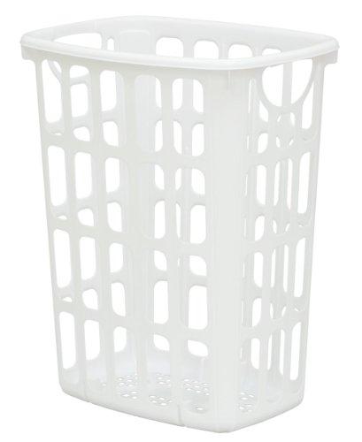 United Solutions LN0205 Two Bushel White AIRitOUT Laundry Hamper -2 Bushel White Hamper with Pass Through Handles Designed for Maximum Airflow