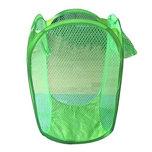 TOOGOORportable Folding Nylon Mesh Fabric Laundry Basket£¨green£ 303052cm