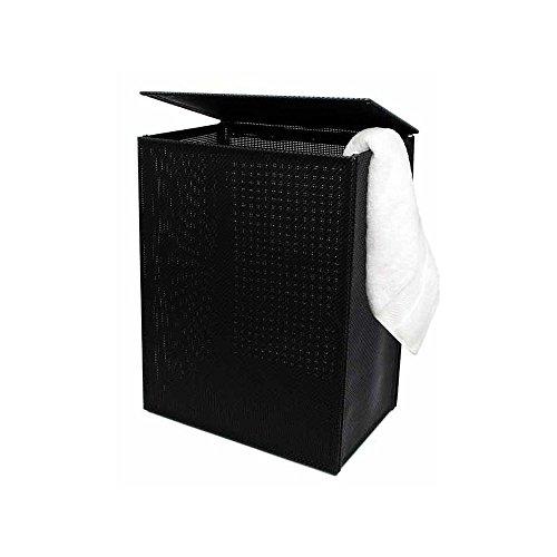 FOH RHA003BKV20 Black 125 x 165 x 22 Basketweave Hamper -2  CS