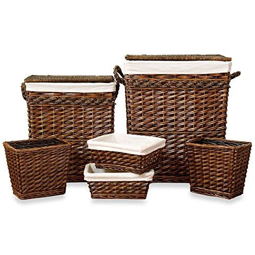 6-Piece Woven Hamper Storage and Sorter Set