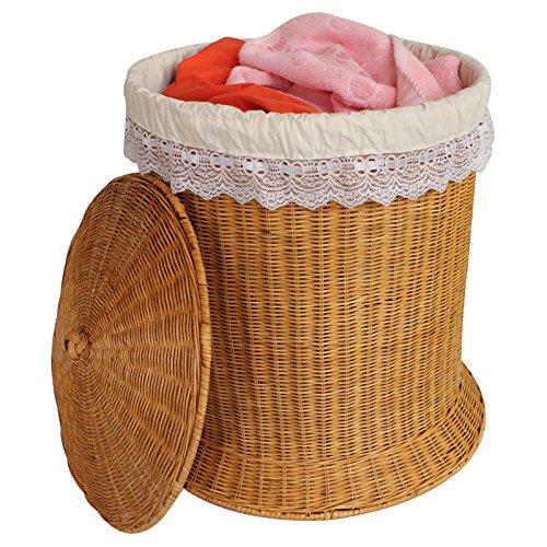 YZL Rattan woven hamper dirty clothes storagelaundry basketbasketsfinish storagelaundry basketdirty barrel basket  yellow