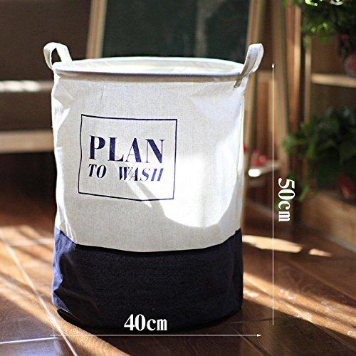 Luckyfree Laundry Basket Cotton Linen Dirty Clothes Basket Toys Debris Snack Storage Basket Dark Gray 40 50Cm