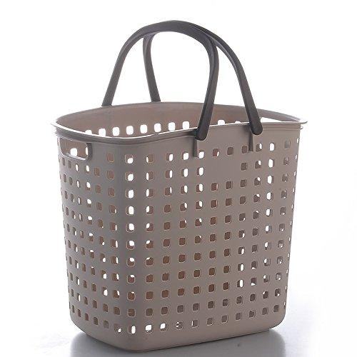 Luckyfree Laundry Basket Plastic Dirty Clothes Basket Toys Debris Snack Storage Basket 42 317 37Cm Dark Gray