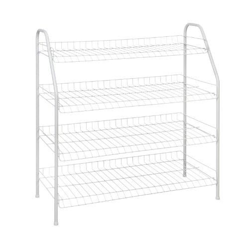 ClosetMaid 8131 4-Tier Freestanding Shoe Rack White