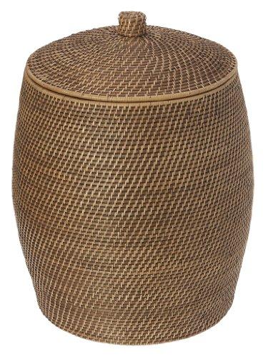 KOUBOO Rattan Beehive Hamper with Liner Honey Brown
