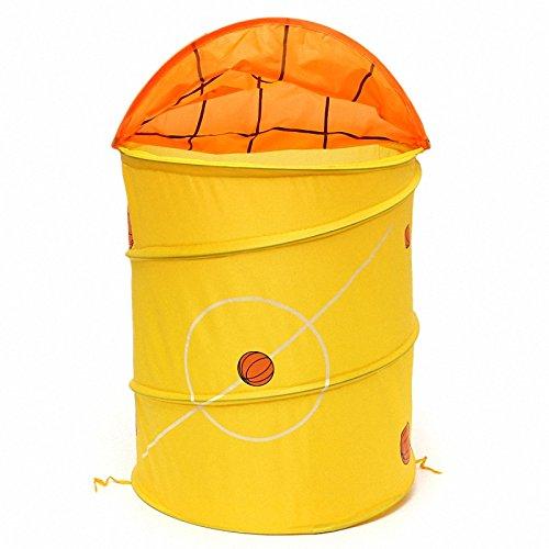 Kids Foldable Pop Up Animal Laundry Basket For Toys Storage Bin BasketballFootball Type Folding Hamper Laundry Basket Yellow