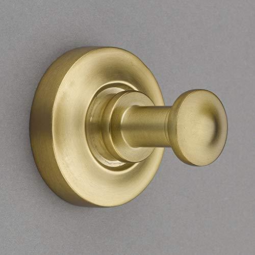 Nouveaux Collection Burnished Brass 2 Towel HookRobe Hook - Good for Kitchen Bathroom Bedroom Or Closet Hardware