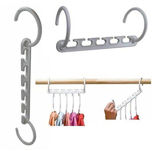 YIYAY Space Saver Wonder Magic Clothes Hanger Rack Clothing Hook Organizer Set