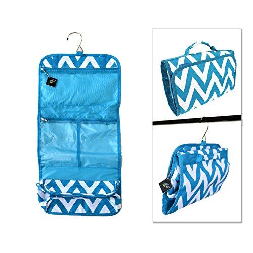 Closet Trolley Hanging Accessory Bag - Blue Chevron