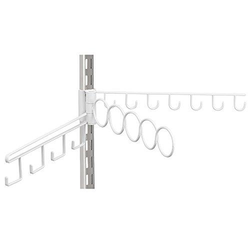 InterDesign Wire Shelf Track Closet Accessory Organizer White