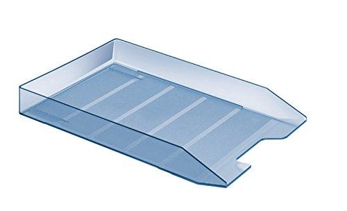 Acrimet Stackable Letter Tray Clear Blue Color 1 Unit