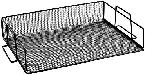 Ybmhome Black Steel Mesh Stackable Letter Paper Holder Shelf Tray Desktop Organizer Office Product Black 1 Tray 2251 Black