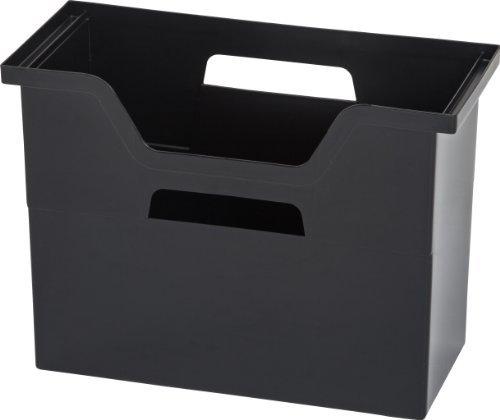 IRIS Medium Desktop File Box 6 Pack Black by IRIS USA Inc