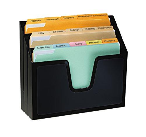 Acrimet Horizontal Triple File Folder Organizer Black Color