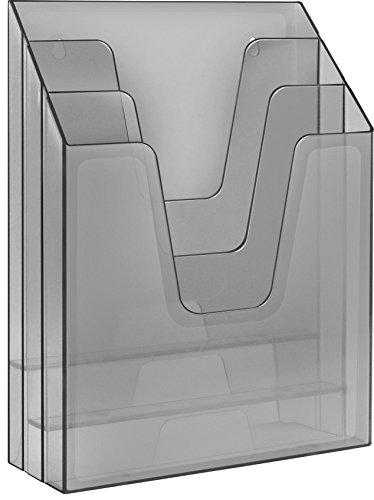 Acrimet Vertical File Folder Organizer Smoke Color