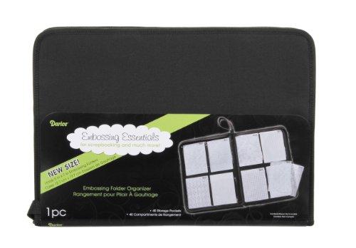 Darice CN2033-994-1 Embossing Folder Organizer Case for 5 by 7-Inch Folders Black