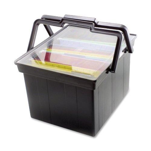 Generic Companion LetterLegal Portable Plastic File Box small
