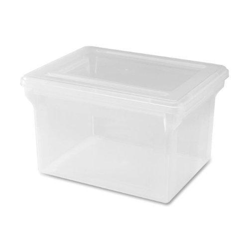 Generic LetterLegal Plastic File Box transparent