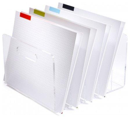 Storage Bin Decorative Plastic Lucite Look File Box Small Desk Size 10 x 115 X 65
