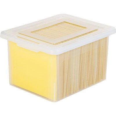 Wholesale CASE of 15 - Lorell LetterLegal Plastic File Box -File Box LegalLetter 13-45x19x11 Clear