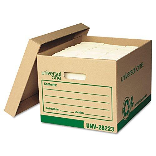 Universal 282234 - Recycled Record Storage Box LetterLegal 12 x 15 x 10 Kraft 4Carton-UNV282234