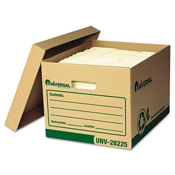 Universal 28225 - Recycled Record Storage Box LetterLegal 12 x 15 x 10 Kraft 12Carton-UNV28225