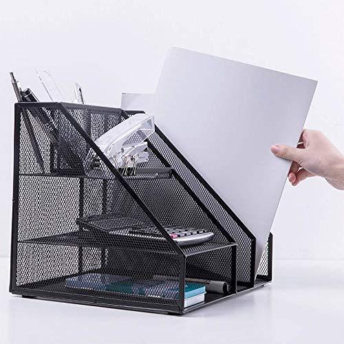 Daliuing File Holder Pen Holder Combined File Box Multifunctional Metal File Holder File Basket Information Frame