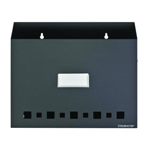 STEELMASTER Wall File Basket with Label Holder Black 27111004