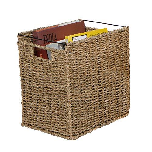 Trademark Innovations 125 Rattan Woven Decorative File Folder Basket