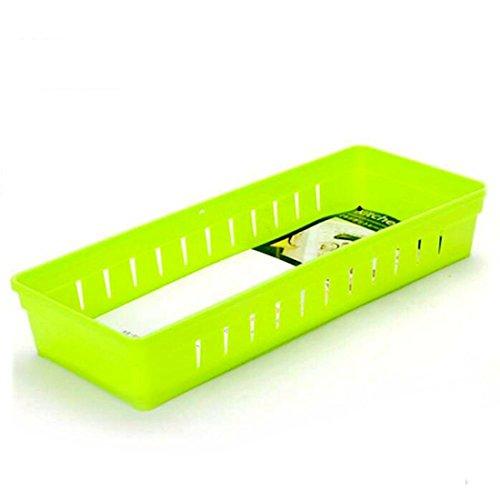 Creative Storage Drawers Drawer Organizers VANORIG Plastic Drawer Dividers Drawer Storage Box Stationery Makeup Organizers Set of 4 Green