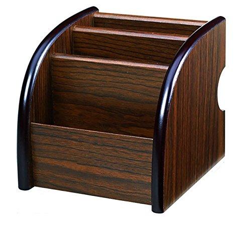 Storage Compartments Multifunctional Desktop Wood Storage Box Desktop Stationery Storage Box Collection Business CardPenPencilMobile Phone Remote Control Holder Desk Supplies Organizer style 1