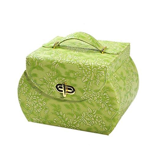 European wood vintage jewelry with locking storage boxjewelry boxCosmetic boxjewel box-A