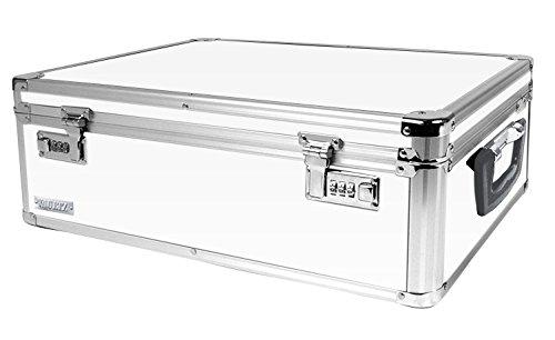 Vaultz Locking Storage Box 65 x 19 x 135 Inches White VZ00177