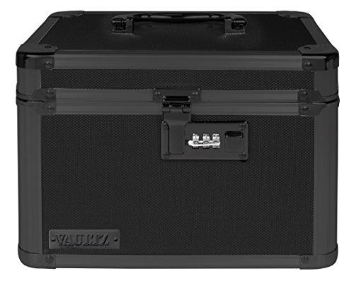 Vaultz Locking Storage Box 78 x 72 x 10 Tactical Black VZ03588