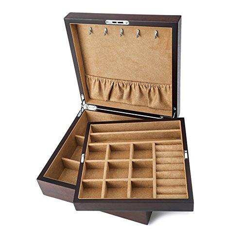 ash wood jewelry boxBracelets jade jewelry display boxes of storage reservoirsdouble locking storage box-A