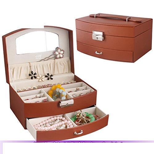 fashion jewelry boxEuropean style Korea locking storage boxVelvet jewelry boxjewel box-G