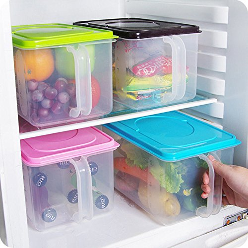 Airtight Containers airtight container for flour and sugar Kitchen Food Crisper Food Container Box Refrigerator Storage Box with Handle storage containers airtight container for weed Random Color 1pcs
