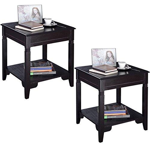 Gracelove 2PCS Nolan End Table Durable Quality Furniture Shelf Decor Home Living Room