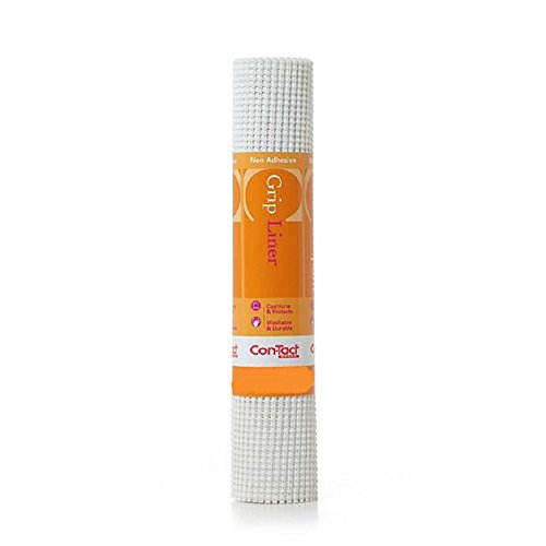 Con-Tact Brand Grip Non-Adhesive Non-Slip Shelf and Drawer Liner 20-Inches by 5-Feet White