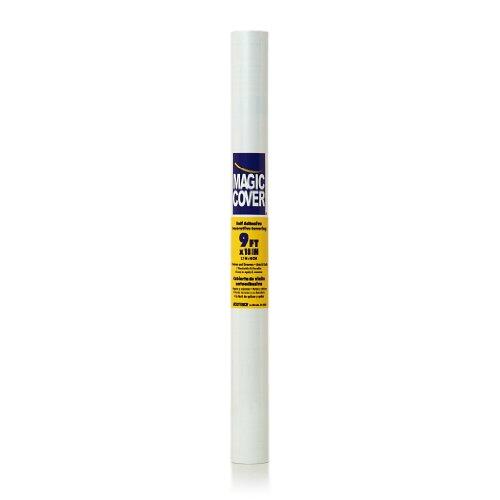 Magic Cover Premium Adhesive Vinyl Contact Shelf Liner and Drawer Liner 18x9 White