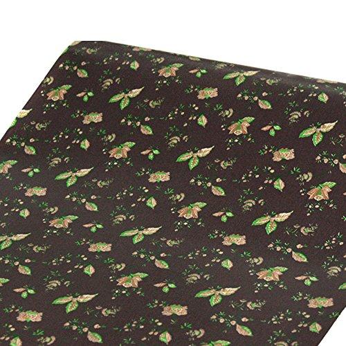 SimpleLife4U Floral Leaf Storage Shelving Paper Self-Adhesive Drawer Liner Refurbish Ugly Nightstands Wardrobe177 Inch By 13 Feet