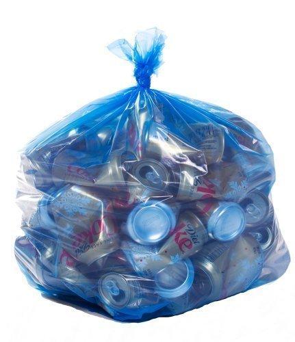 Toughbag Blue Recycling Bags 40 Gallon 23x10x46 12 Mil 100