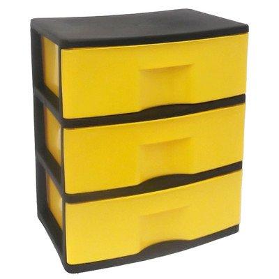HOMZ 3-Drawer Storage Chest