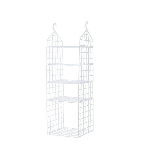 Lhyu Wardrobe Storage rack hanging shelf creative folding wardrob