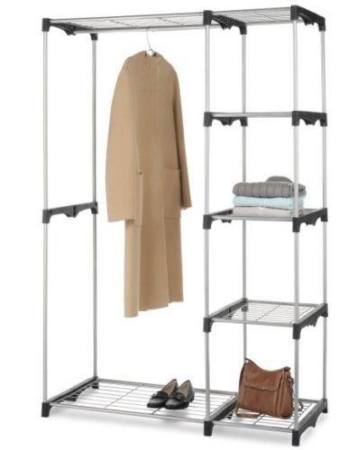 Generic NV_1008003693_YC-US2 od WH St Portable Clothes ack P Closet Organizer le Cl Hanger Home Hang Storage Rack me Ga Garment Shelf Rod WH Closet