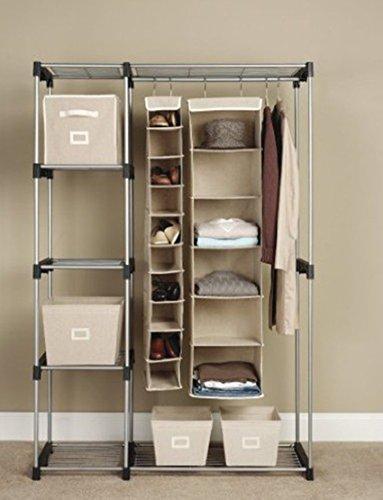 Generic YZ_714698YZ_7 Storage Rack izer St Portable Clothes able C Garment Shelf Rod WH Hang manstargogogo me Gar Hanger Home YZ_US7_160510_114