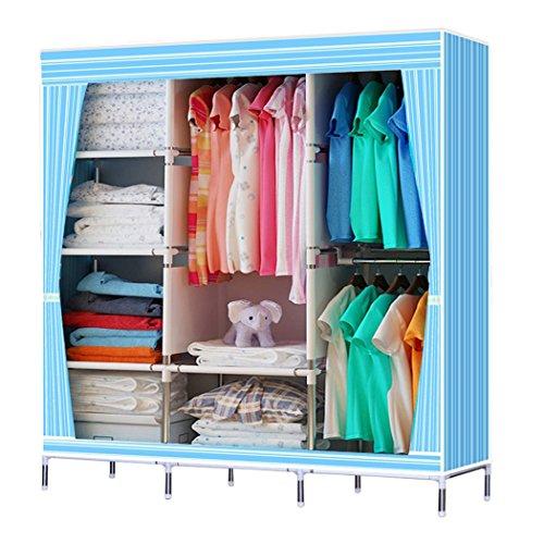 Gracelove Non Woven Folding Practical Portable Clothes Storage Rack Closet Wardrobe