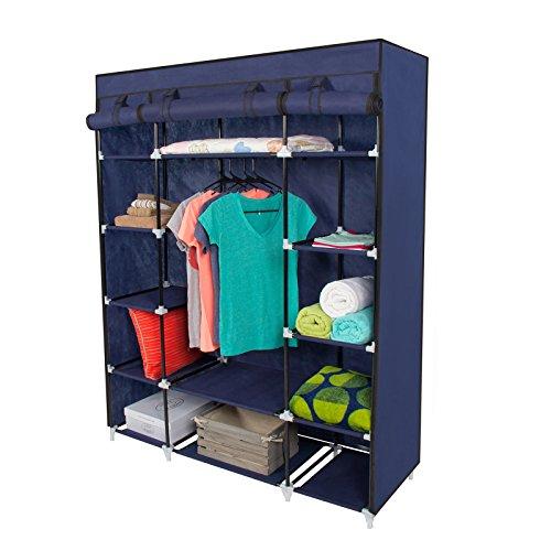 Non Woven Folding Practical Portable Clothes Storage Rack Closet Wardrobe
