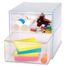 Storage Organizer 2 Drawer 6x6x6 Clear Sold as 1 Each