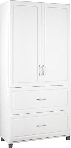 SystemBuild Kendall 36 2 Door2 Drawer Storage Cabinet White Stipple